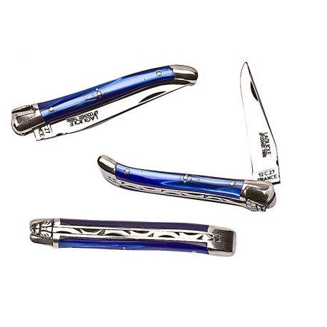 Laguiole 9 cm nacrine bleu