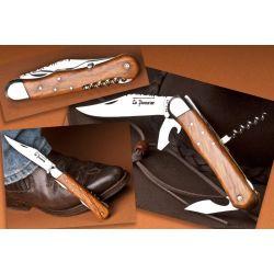 Couteau de chasse Le Pionnier - 4 pièces - Genévrier - 12 cm