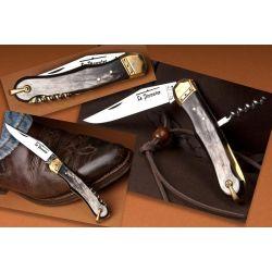 Couteau de chasse Le Pionnier - 2 pièces - Corne / Laiton